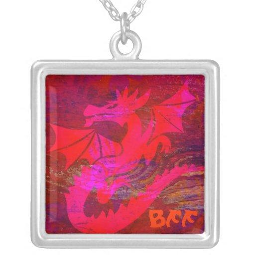 Colar vermelha BFF do dragão