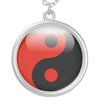 Colar vermelha de Yin Yang
