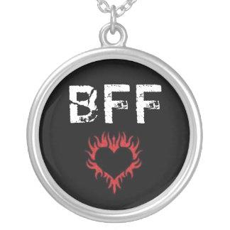 Colar vermelha do coração BFF do amor