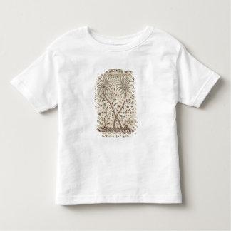 Colcha com motivos da palmeira camisetas
