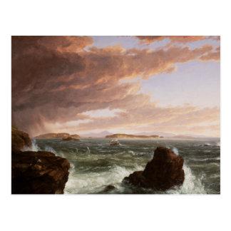 Cole de Thomas - vistas através da baía do francês Cartão Postal