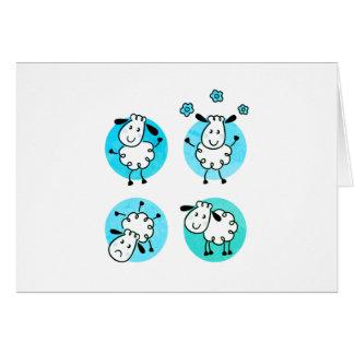 Coleção/azuis bebés novos dos cartão dos carneiros