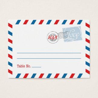 Coleção azul do serviço postal do cartão do lugar