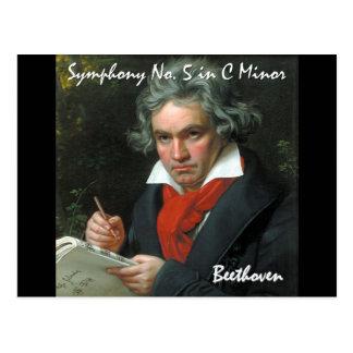Coleção clássica da obra-prima de Beethoven Cartão Postal