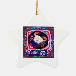 Coleção da ASTROLOGIA Ornamento De Cerâmica Estrela