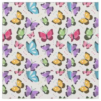 Coleção da borboleta tecido
