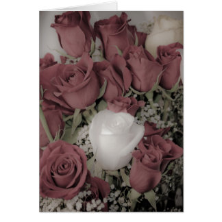 Coleção de brilho do rosa branco cartão comemorativo