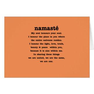 Coleção de Namaste Cartão Comemorativo