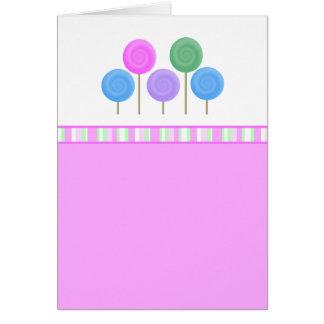 Coleção deliciosa doce cartão comemorativo