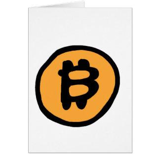 coleção do bitcoin cartão comemorativo