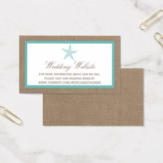 Coleção do casamento de praia de serapilheira da cartão de visitas