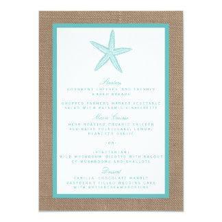 Coleção do casamento de praia de serapilheira da convite 11.30 x 15.87cm