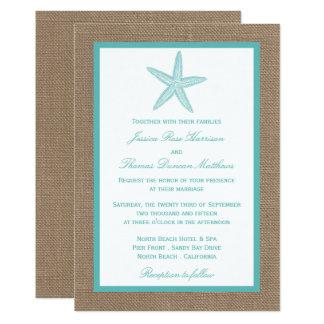 Coleção do casamento de praia de serapilheira da convite 12.7 x 17.78cm