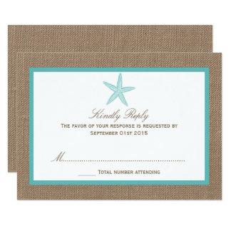 Coleção do casamento de praia de serapilheira da convite 8.89 x 12.7cm
