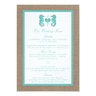 Coleção do casamento de praia de serapilheira do convite 11.30 x 15.87cm