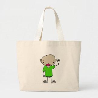 coleção do menino dos desenhos animados bolsa