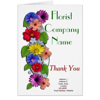 Coleção do tema do negócio do florista cartão comemorativo
