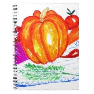 Coleção dos vegetais caderno