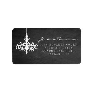 Coleção elegante do casamento do quadro do etiqueta de endereço