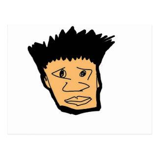 coleção filipina da cara dos desenhos animados do cartão postal