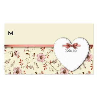 Coleção floral do casamento do vintage de cartão de visita