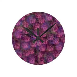 Coleção macia roxa da textura relógios de paredes