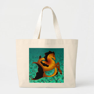 Coleção mágica do cavalo de mar sacola tote jumbo