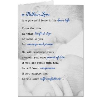 Coleção nova de Sonnet™ da alma do pai do dia dos Cartão Comemorativo