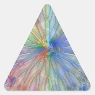 Coleção surpreendente do feliz aniversario adesivo triangular