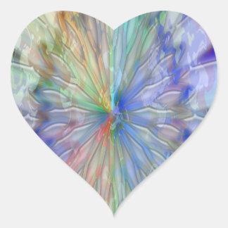 Coleção surpreendente do feliz aniversario adesivo coração