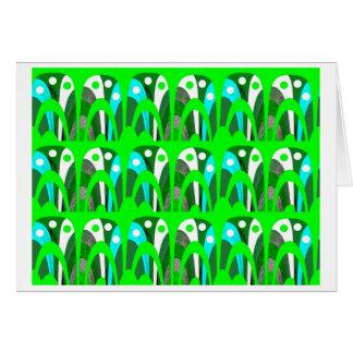 Coleção verde cartão comemorativo