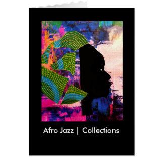 Coleções do jazz   do Afro Cartão Comemorativo