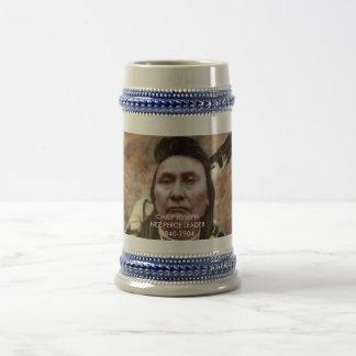Coleções - guerreiros famosos do nativo americano caneca de cerveja