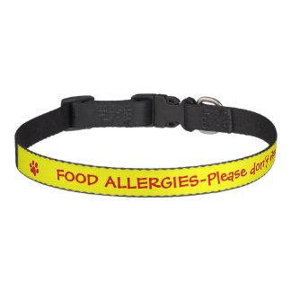 Coleira Alerta-Amarelo médico da alergia de comida