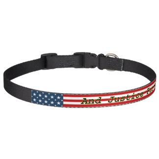 Coleira [as estrelas N do americano patriótico] listram a