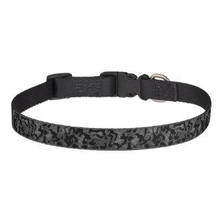 Coleira Camuflagem cinzenta preta e escura de Camo moderno