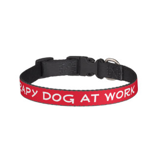 Coleira Cão da terapia no trabalho (pequeno)