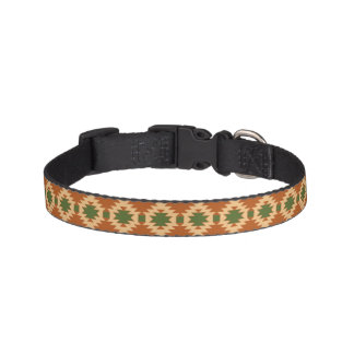 Coleira de cão com design asteca