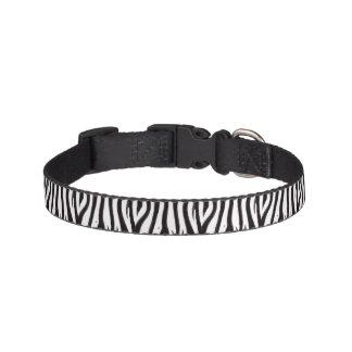Coleira de cão do impressão da zebra