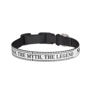 Coleira Nome personalizado o homem o mito a legenda