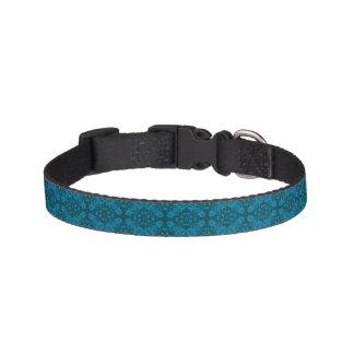 Coleiras de cão telhadas pretas e azuis