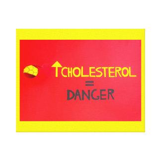 colesterol elevado   em canvas