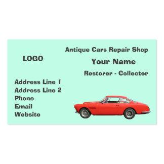 Coletor 3 da oficina de reparações dos carros cartão de visita