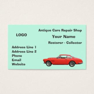 Coletor 3 da oficina de reparações dos carros cartão de visitas