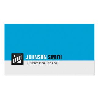 Coletor de débito - azul pessoal do Aqua Cartão De Visita