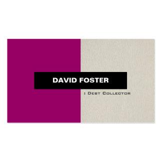 Coletor de débito - na moda elegante simples cartões de visitas