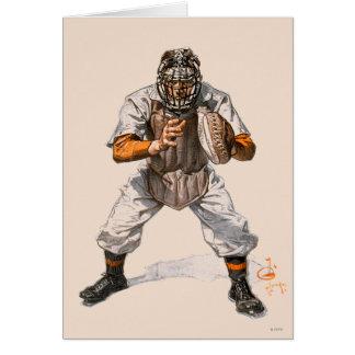 Coletor do basebol cartão comemorativo