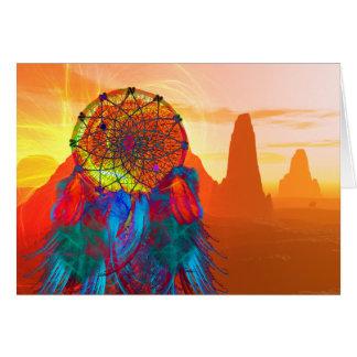 Coletor do sonho do vale do monumento cartão comemorativo