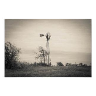 Coletor do vento impressão de foto