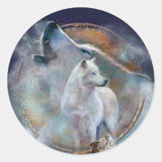 Coletor ideal - etiqueta da arte do lobo do